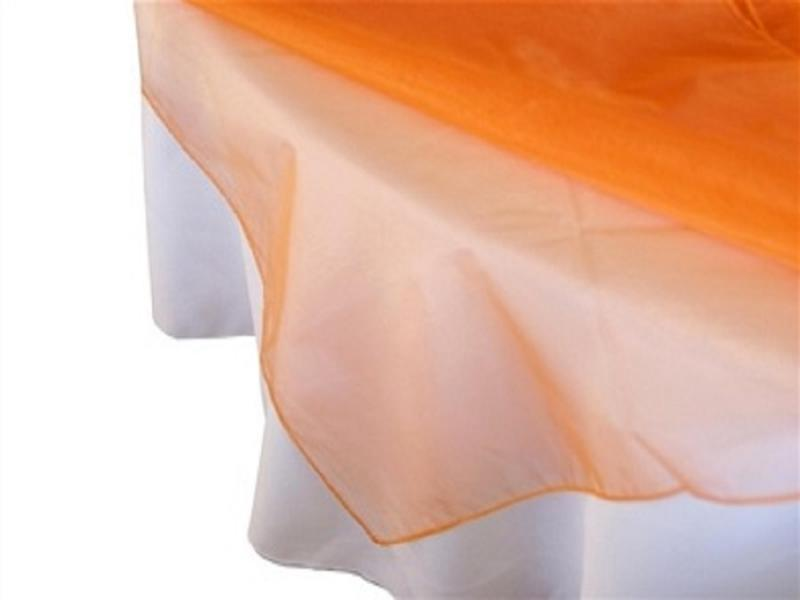 Nappe Carré Organza 60'' x 60'' Orange